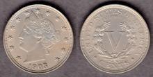 1903 5c US liberty V nickel