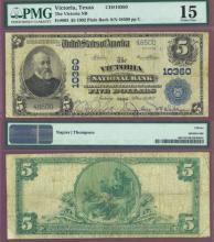 1902 Plain Back TEXAS - $5.00 FR-603 Charter 10360