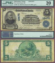 1902 Date Back TEXAS - $5.00 FR-609 Charter 12475 US large size national bank note