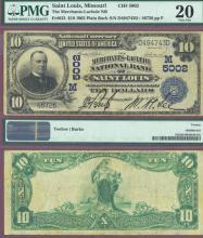 1902 Plain Back MISSOURI - $10.00 FR-632 Charter 5002 US large size national bank note