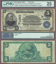 OHIO $5 1902 Plain Back Cleveland - FR-607 Charter 11862