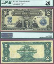 1899 - $2.00 FR-249 PMG Very Fine 20 US Large Size Silver Certificate