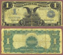 1899 $1.00 FR-235 US large size silver certificate blue seal