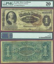 1886 $1.00 FR-219 US large size silver certificate blue seal
