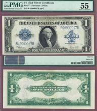 1923 $1.00 FR-237 US large size silver certificate PMG About Uncirculated 55