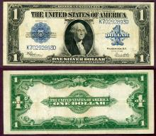 1923 $1.00 FR-237 US large size silver certificate