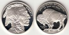 2001 Buffalo $1.00 US modern commemerative silver dollar
