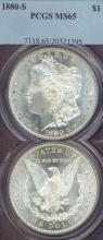 1880-S $ MS-65 US Morgan silver dollar