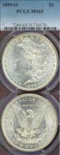 1899-O $ PCGS MS-65 New Orleans Mint Morgan Dollar PCGS MS 65