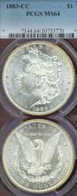 1883-CC Morgan Silver Dollar PCGS MS-64