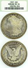 1921 $ MS-64 Morgan silver dollar