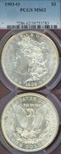 1903-O $ Morgan silver dollar