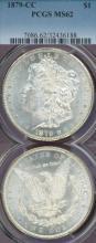 1879-CC $ Clear CC Carson City Mint silver dollar