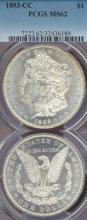 1893-CC $ Carson City mint silver dollar