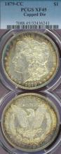 1879-CC $ EF-45 Carson City Mint Morgan Silver Dollar Capped Die