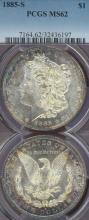 1885-S $ US morgan silver dollar