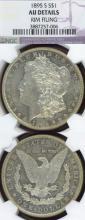 1895-S $ US Morgan silver dollar