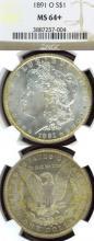 1891-O $ US Morgan silver dollar