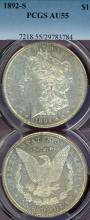 1892-S $ US morgan silver dollar