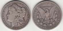 1902-S $ US Morgan silver dollar