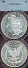 1888 $ MS-65 US Morgan silver dollar PCGS MS 65