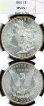 1880 $ US Morgan silver dollar NGC MS-65+