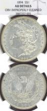1894 $ US Morgan silver dollar scarce date