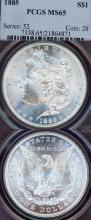 1885 $ US Morgan silver dollar