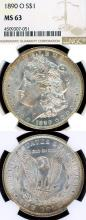 1890-O $ US Morgan silver dollar