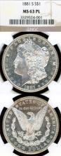1881-S $ US Morgan silver dollar NGC MS-63 Prooflike