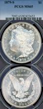1879-S $  US Morgan silver dollar PCGS MS-65