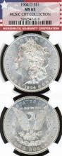 "1904-O $  US morgan silver dollar from the ""Music City Collection"" NGC MS 63"