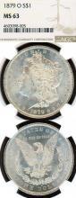 1879-O $ US Morgan silver dollar NGC MS 63