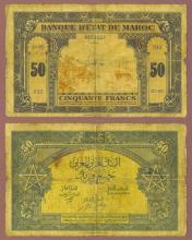 1943 50 Francs Morocco