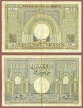 1947 50 Francs Morocco