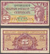 Series 591 5 Cent US military payment certificate