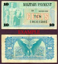 Series 692 10 Cents US militarty payment certifcate