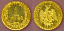 1902 MO/M 1 Peso Gold Mexican gold peso