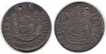 1749 2 Real Mexico silver 2 real