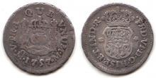 1757 1/2 Real Mexico silver