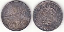 1898 GO/RS  Mexican silver peso