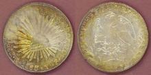 1863 GO/YF 8 Reales Mexican silver peso