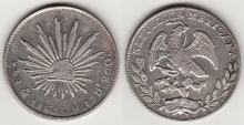1861 MO/CH 4 Reales Mexican silver coins