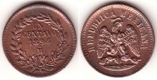 1894 MO 1 Centavo Mexican copper coins