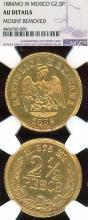 1884 MO M 2.50 Peso Gold Mexico coin