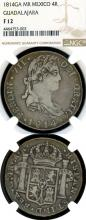 1814 GA MR 4 Reales Mexican Collectable silver coin