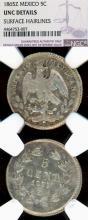 """1864-Z 5 Centavos """"Maximilian"""" Collectable mexican silver coin"""