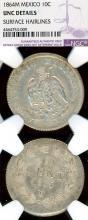 """1864M 10 Centavos """"Maximilian"""" Collectable Mexican silver coin"""