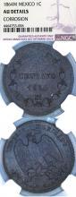 """1864-M One Centavos """"Maximilian"""" Mexican collectable coin"""