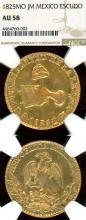 1825 MO JM Escudo Collectable mexican coins